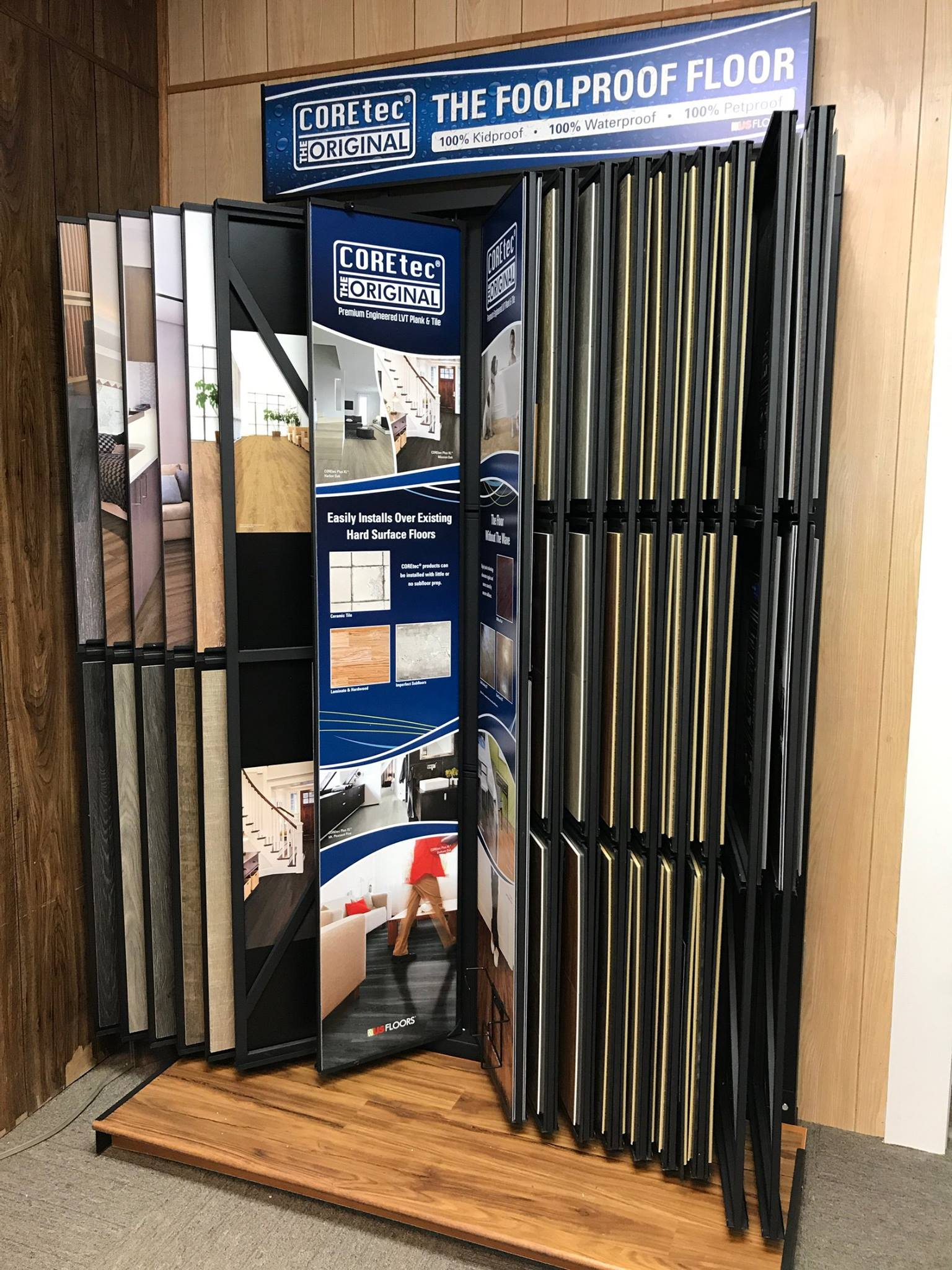 COREtec Waterproof flooring available at Greentown Flooring