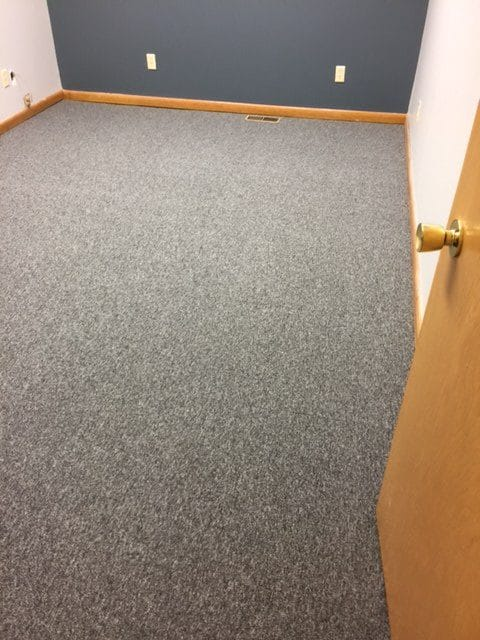 Office carpet installation by Greentown Flooring