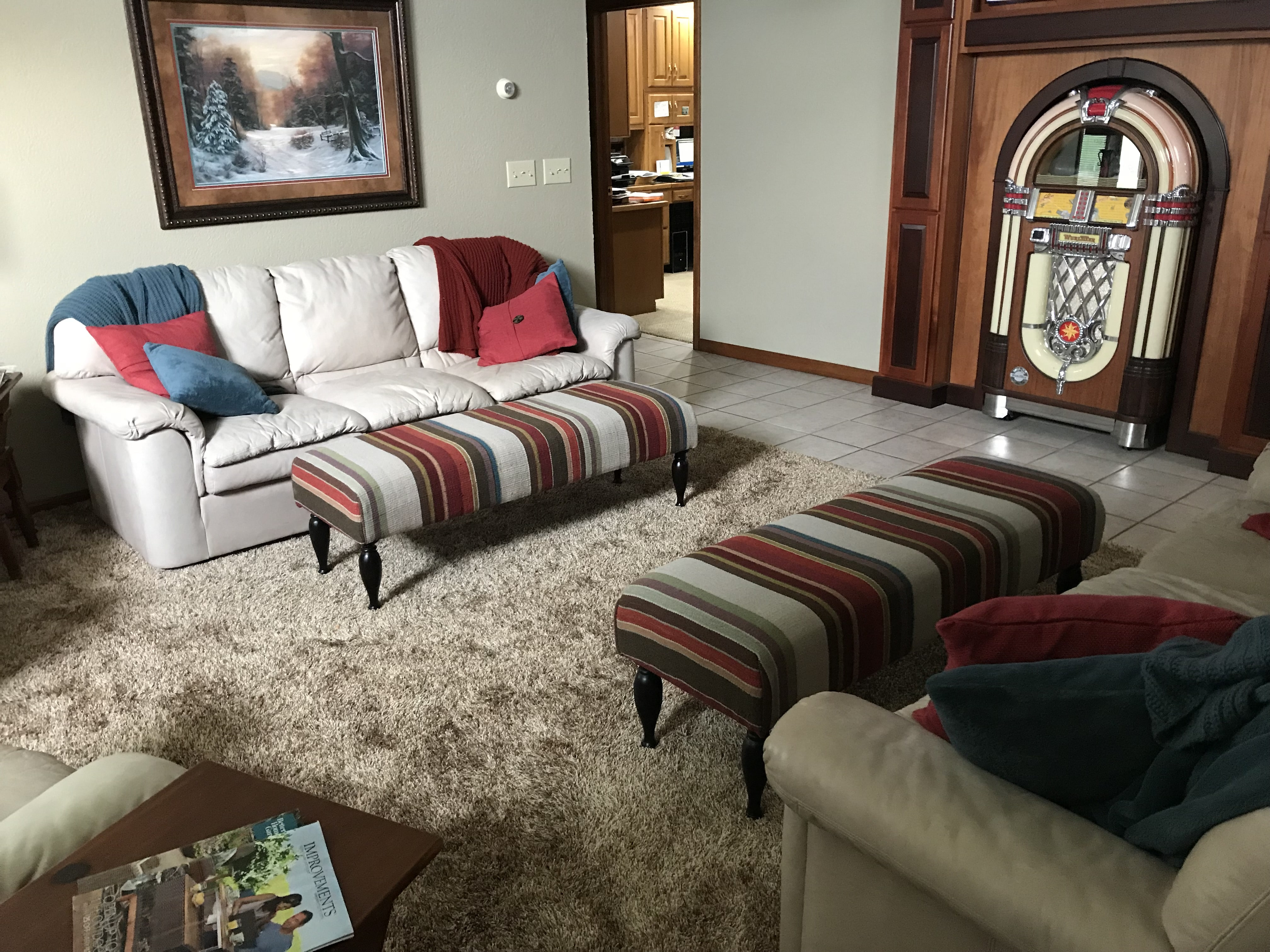 Shag carpet installation by Greentown Flooring